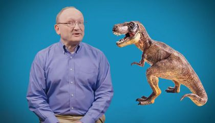 "Smithsonian paleontologist, Hans Sues, answers your questions in the National Museum of Natural History's Deep Time YouTube series, ""The Doctor Is In."" (Smithsonian Institution)"