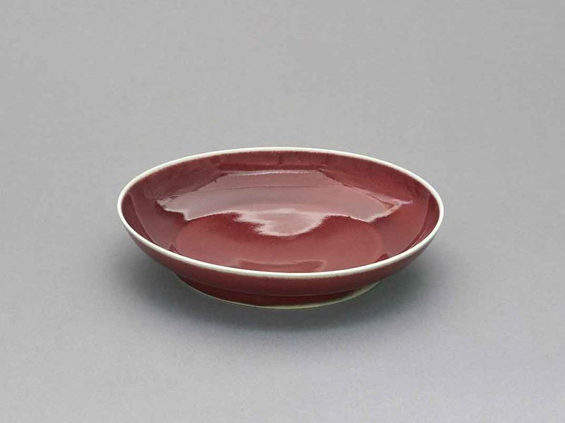 Copper-red dish, Ming dynasty