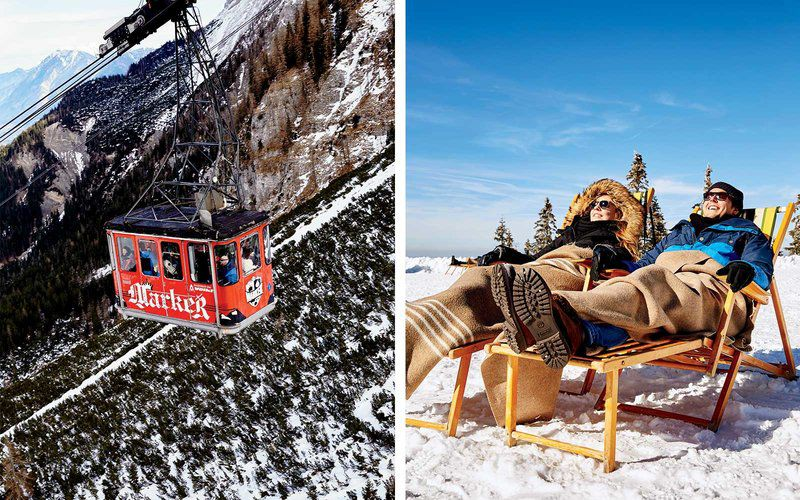 gondola takes passengers to the top