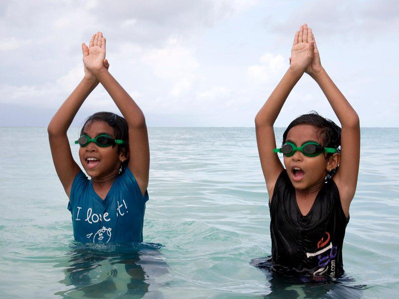 Third-graders get lessons in swimming, climate change
