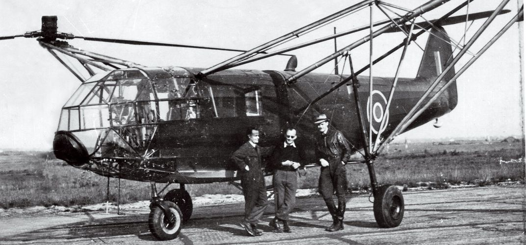 Caption: Across the Channel in a Nazi Helicopter