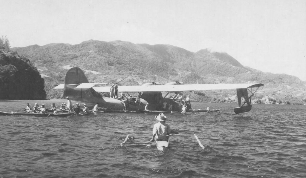 A U.S. Army Air Forces OA-10 Catalina delivered a U.S. reconnaissance team, aided by Filipino locals, to an island in the Japanese-occupied Philippines in 1945.