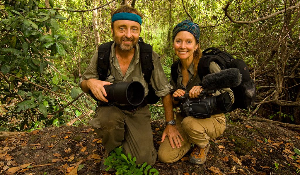 Frans Lanting and wife and partner Chris Eckstrom, a writer and videographer, in Senegal in 2007.