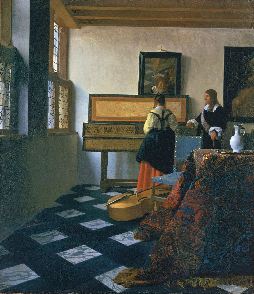 Vermeer, Lady at the Virginals With a Gentleman