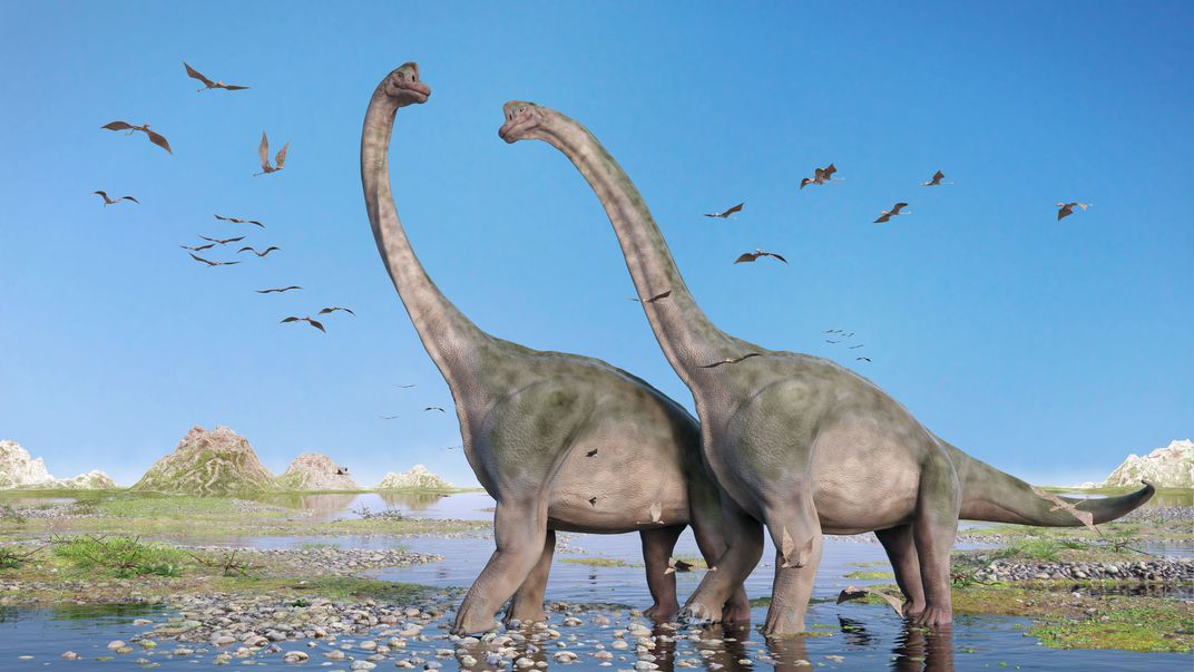 Sauropods, such as Brachiosaurus, may have preferred a lagoon environment.