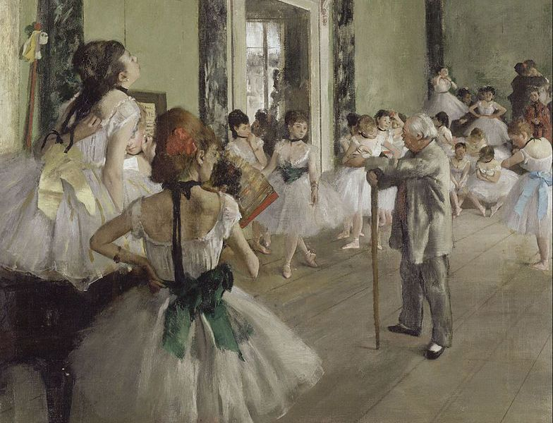 The Dance Class (La Classe de Danse), 1873–1876, oil on canvas, by Edgar Degas