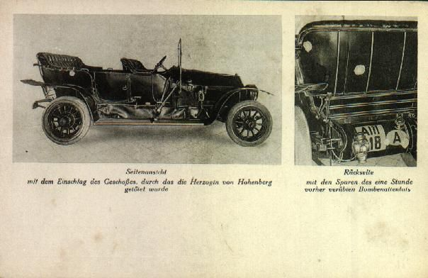 Old photos of Franz Ferdinand's Gräf & Stift gives a clear view (right) of its remarkable license plate.