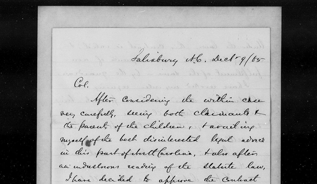 The Freedmen's Bureau kept handwritten records including everything from labor contracts to letters to lists of food rations issued.