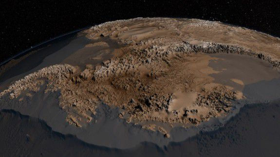 The topography of Antarctica