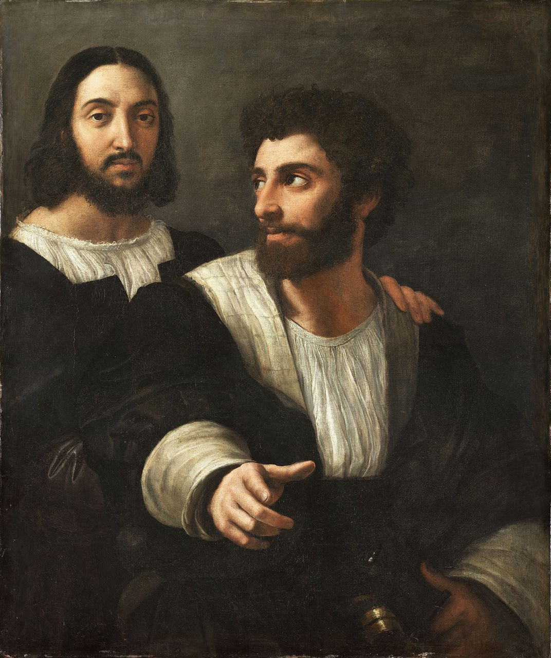 Raphael self-portrait with friend