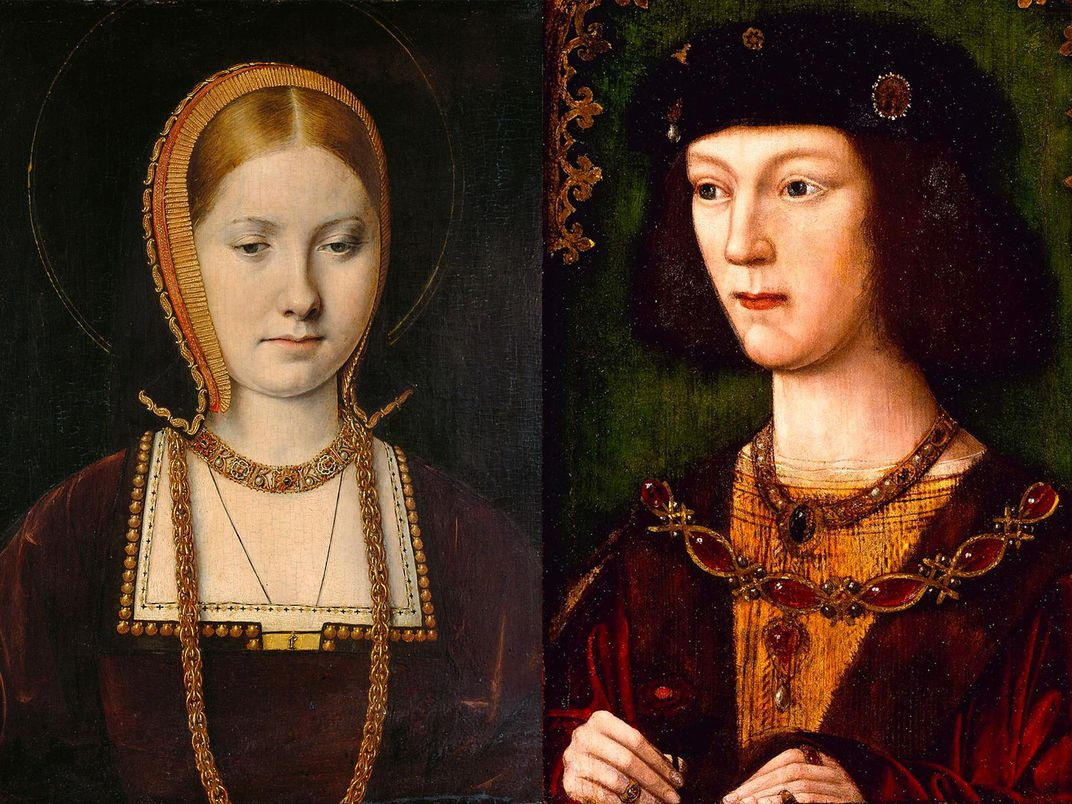 Young Catherine of Aragon and Henry VIII