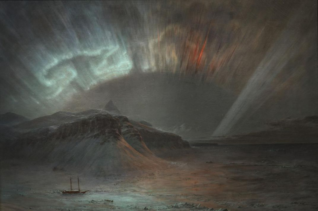 A painting of the northern lights by Frederic Edwin Church