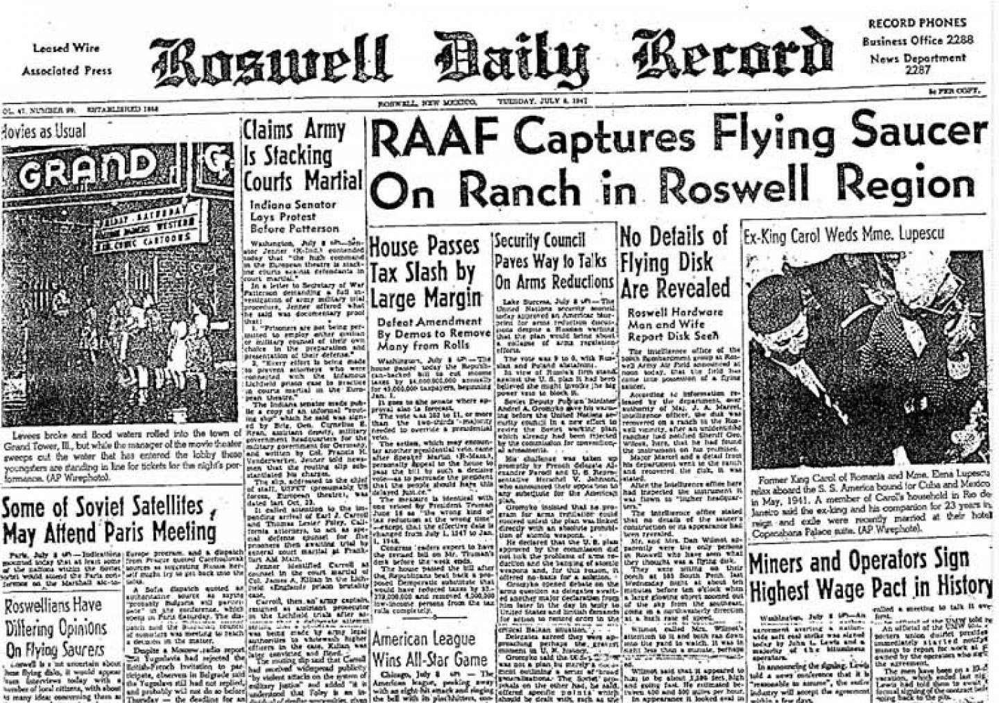 In 1947 A High Altitude Balloon Crash Landed in Roswell