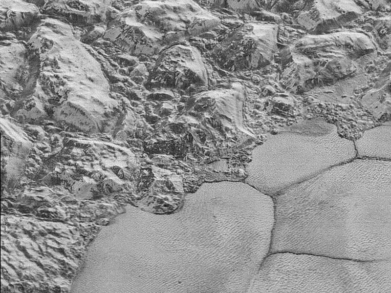Pluto Mountain shoreline