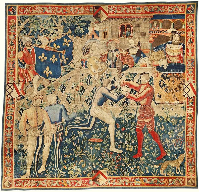 Tapestry depicting Field of Cloth of Gold
