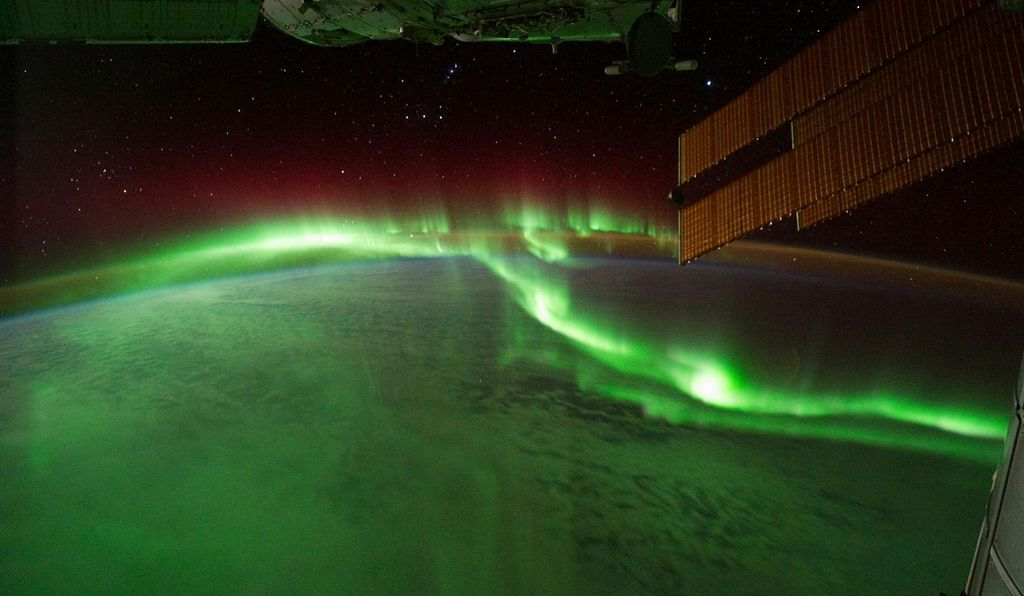 Auroras are light shows in the sky sparked by the sun's flare-ups. This one was captured on film by NASA's Expedition 29 crew in 2011.