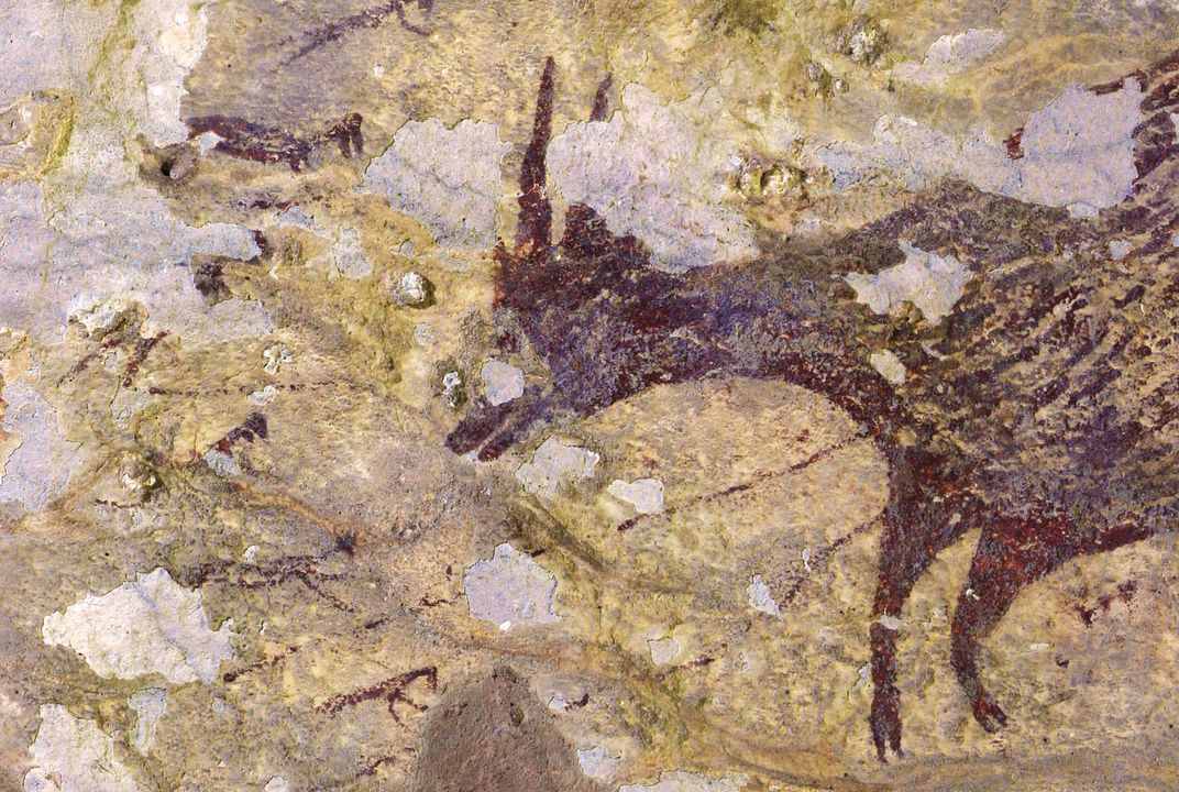 Newly Discovered Indonesian Cave Art May Represent World's Oldest Known Hunting Scene