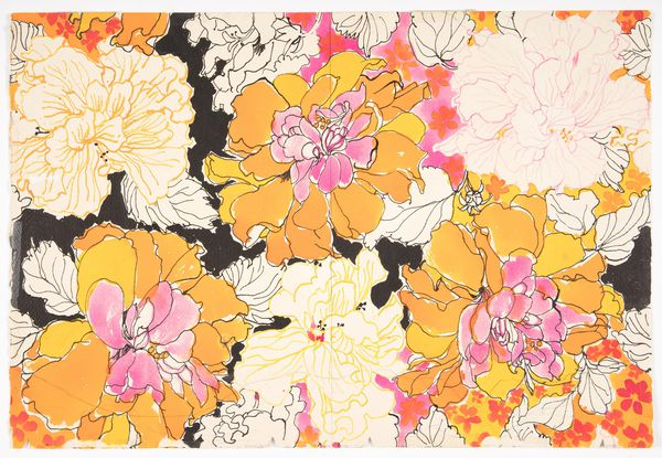 Drawing, Tennessee's Hibiscus by Suzie Zuzek,