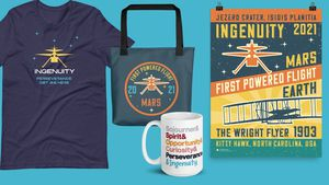 Preview thumbnail for video 'Celebrate the First Flight on Mars! Shop Our Limited Edition Ingenuity Collection - Available Through Apr. 30