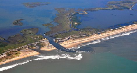 Irene created a new channel across a North Carolina barrier island