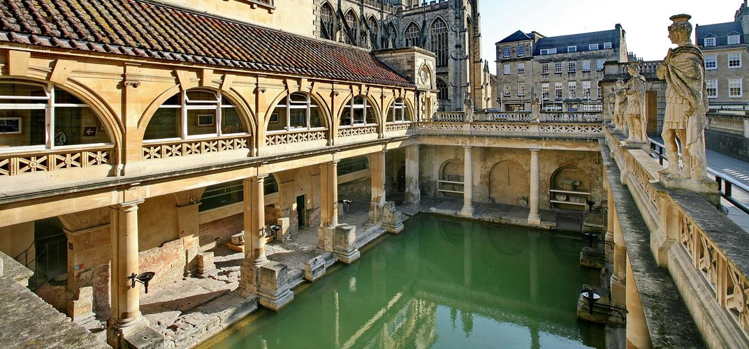 The Roman baths of Bath, England