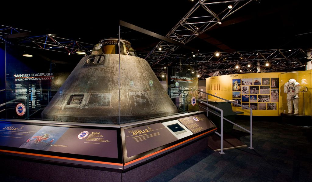 Today, the Apollo 8 command module, an artifact in the collections of the Smithsonian's National Air and Space Museum, is on loan to Chicago's Museum of Science and Industry.
