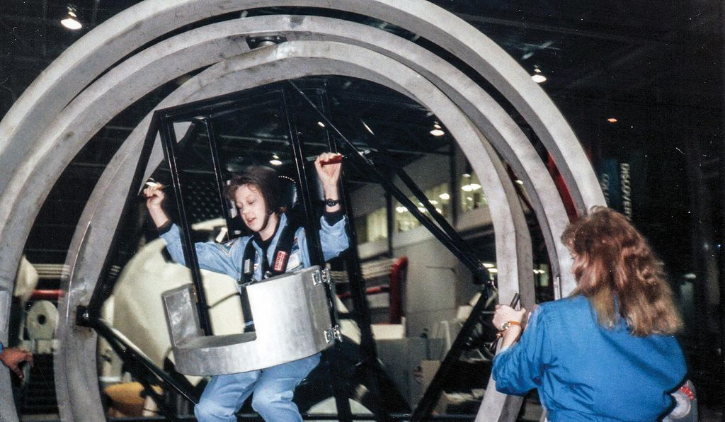 For Ridings, interest in space exploration started young: At Space Camp in Huntsville, Alabama, she took a spin in the facility's multi-axis trainer.