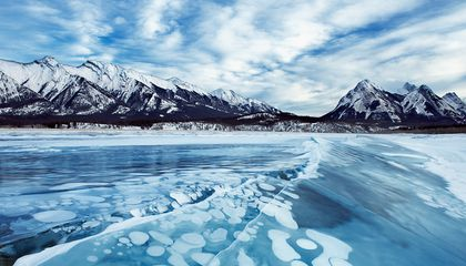 Lake Abraham bubbles 1
