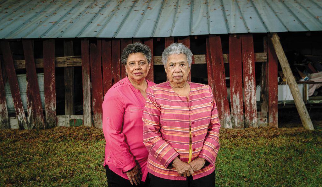 "As great-granddaughters of Newt and Rachel, Dorothy Knight Marsh, left, and Florence Knight Blaylock revere their past: ""It's a very unusual, complex family,"" says Blaylock."
