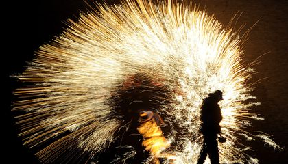To Celebrate the Lunar New Year, Chinese Blacksmiths Turn Molten Metal Into Fireworks