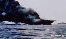 Intense footage of Kamikaze attacks during World War II