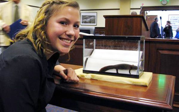 Teen pushes recognition for Idaho giant salamander