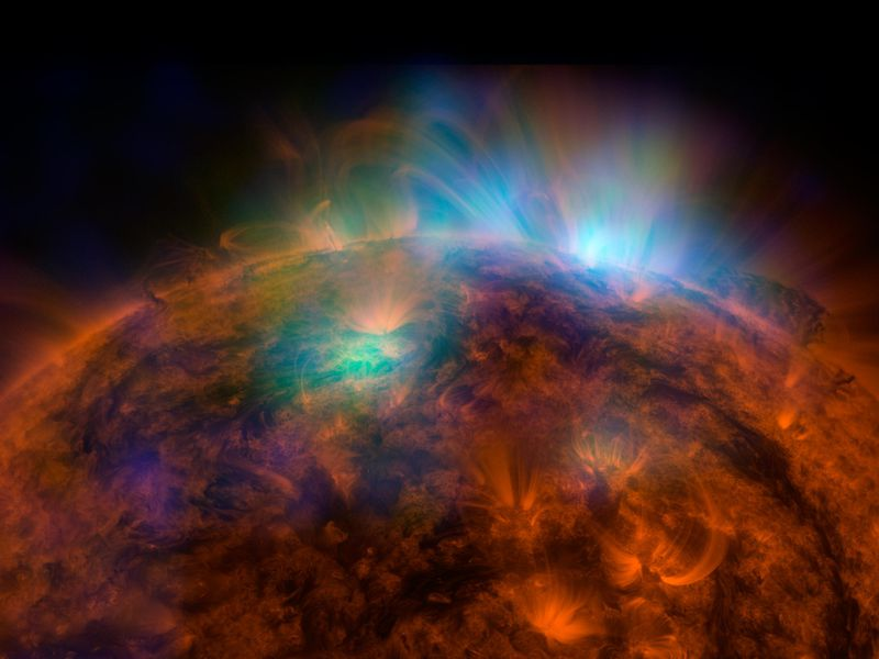 An image of the sun captured by NuSTAR for NASA
