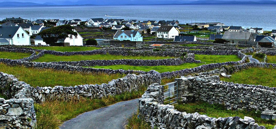 Landscape of the fabled Aran Islands