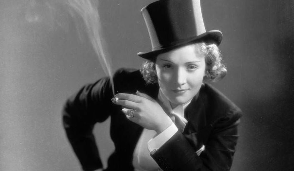 For the 1930 film <em>Morocco</em>, Marlene Dietrich donned a suit and top hat