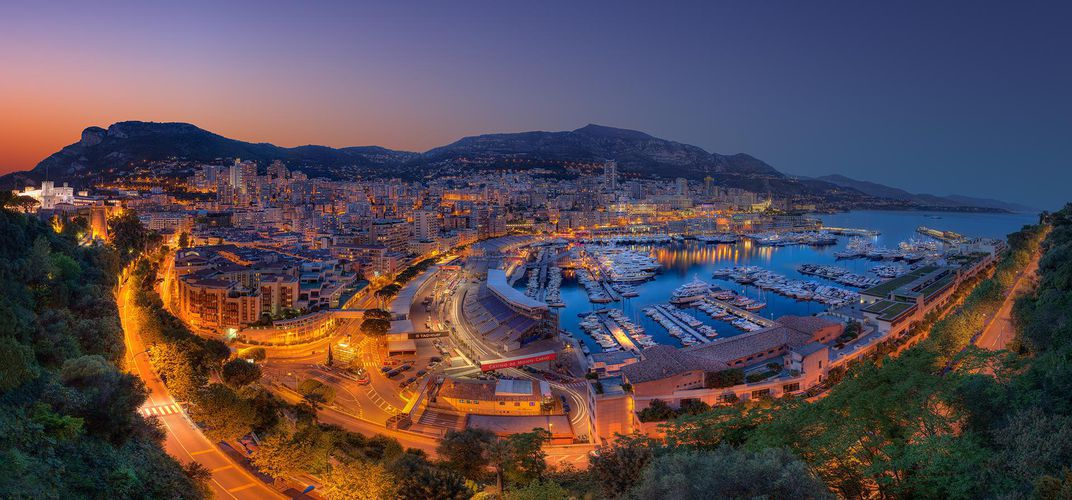 View of the Circuit de Monaco
