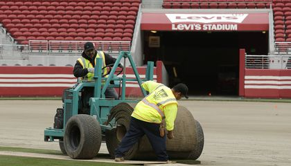 Image: Super Bowl planners seek to avoid turf troubles