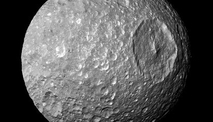 """A Mysterious Force is Acting on Saturn's """"Death Star"""" Moon"""