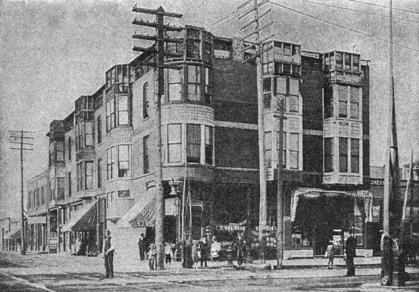 The three-story building at the center of the H.H. Holmes myth