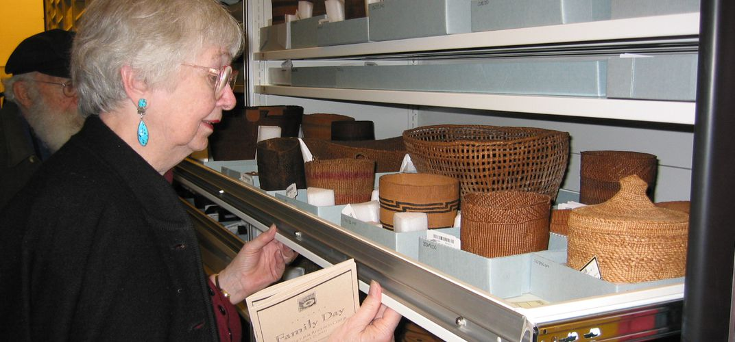 Viewing objects at the Cultural Resources Center
