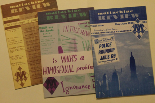 Three copies of The Mattachine Review