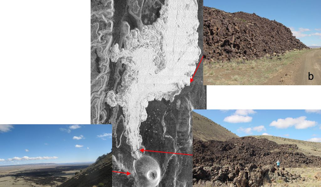 SP cone and flow, a very rough, fresh volcanic feature in northern Arizona.