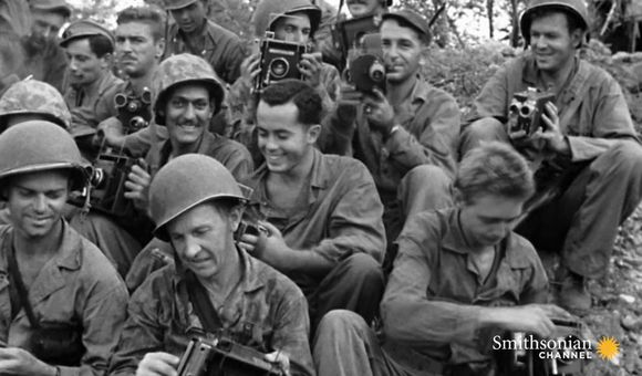 Preview thumbnail for video'This veteran's suggestion made filming World War II easier