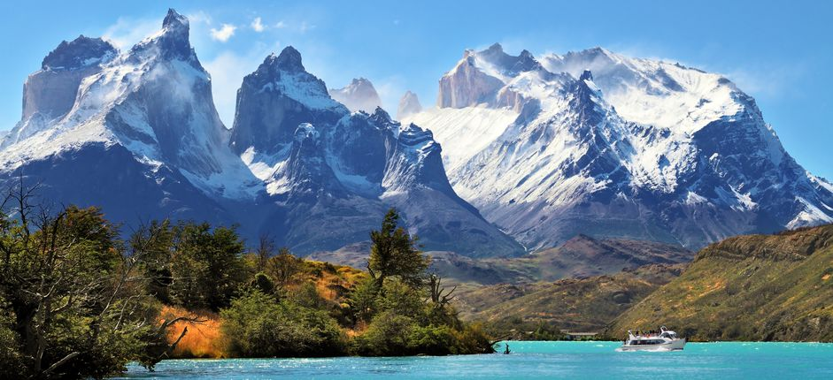 Hiking Through Patagonia <p>Go hiking amid the breathtaking beauty of Patagonia! Take in views of pristine glacial lakes, iconic snowcapped peaks, and dramatic glaciers and learn about the region's natural wonders as you trek amid Torres del Paine and Los Glaciares National Parks, both World Heritage sites.</p>
