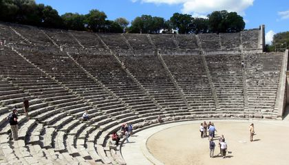 The Acoustics of Ancient Greek Theaters Aren't What They Used to Be