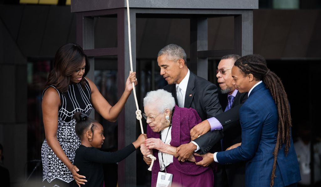 At the opening day ceremony for the new museum, Ruth Odom Bonner, a woman whose father had been born enslaved in Mississippi, rang the deeply symbolic Freedom Bell to mark the historic moment.