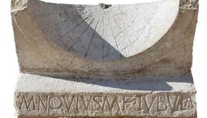 Rare Roman Sundial Uncovered in Italy