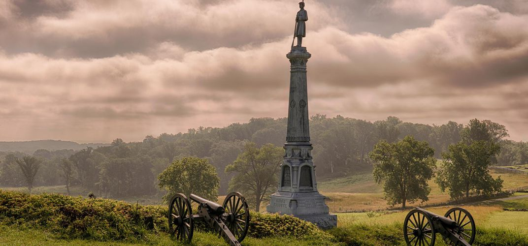View of Cemetery Hill, Gettysburg