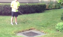 sewer fishing
