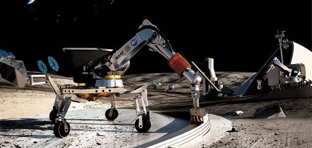 Additive manufacturing could be used for creating concrete structures on the moon.